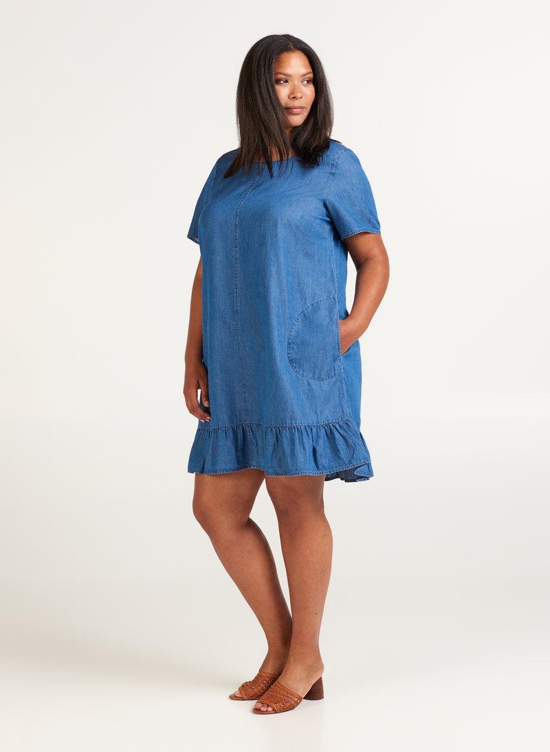 Zizzi - Denim dress - blue