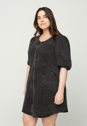 Denim dress - grey