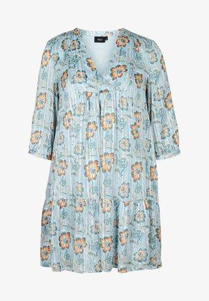 FLORAL PRINT  - Korte jurk - light blue