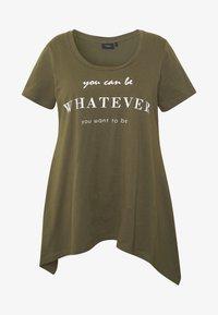 Zizzi - VMIRA - T-shirts med print - ivy green - 3
