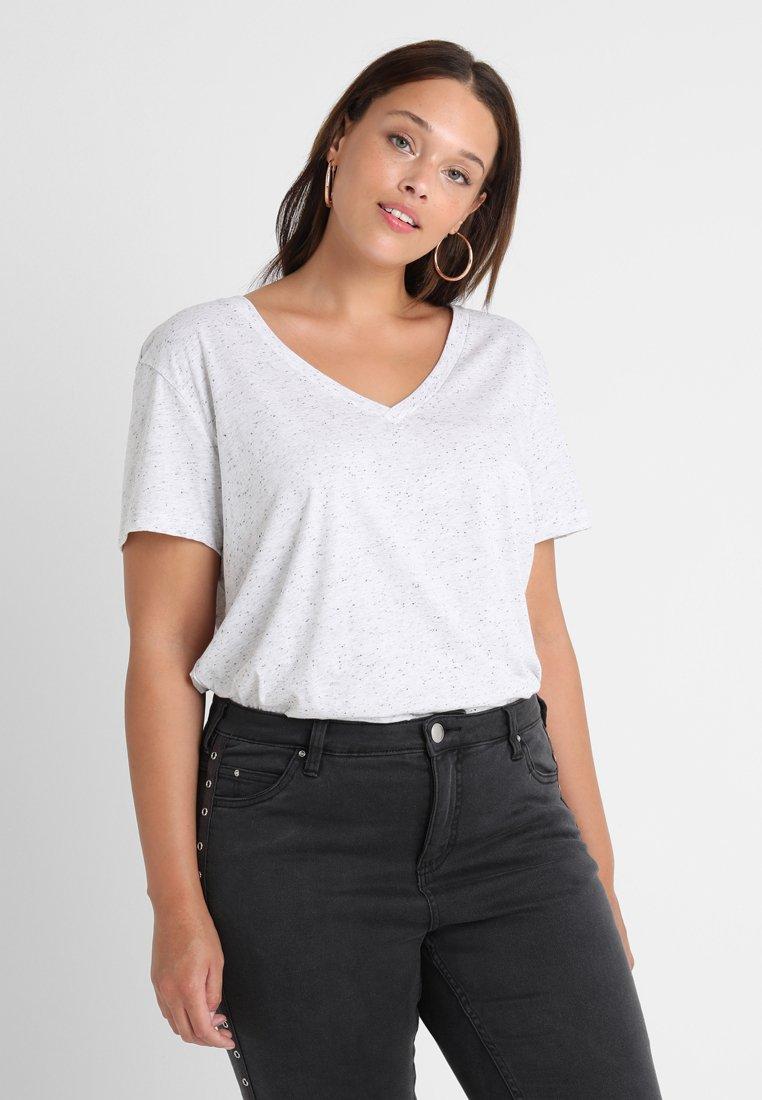 Zizzi - T-Shirt basic - white/black