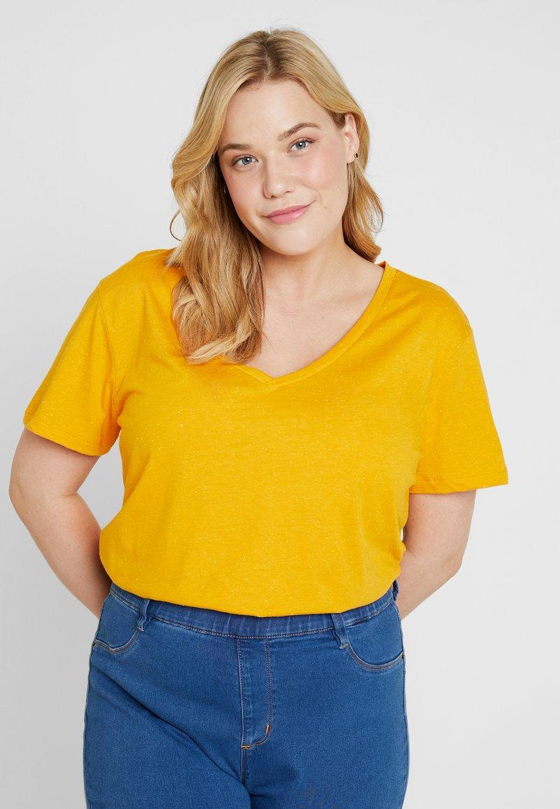 Zizzi - T-shirt basique - golden yellow/light nib