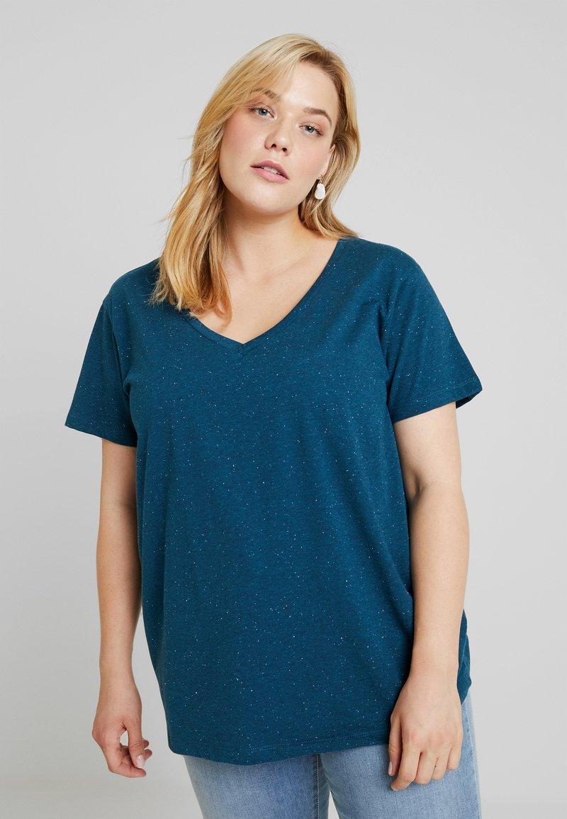 Zizzi - MCHLOÉ - T-Shirt basic - majolica