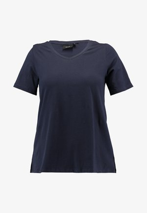 SHORT SLEEVE V NECK - T-shirt basic - night sky