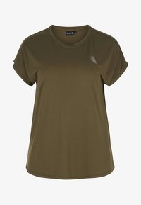 Active by Zizzi - Camiseta estampada - green - 1