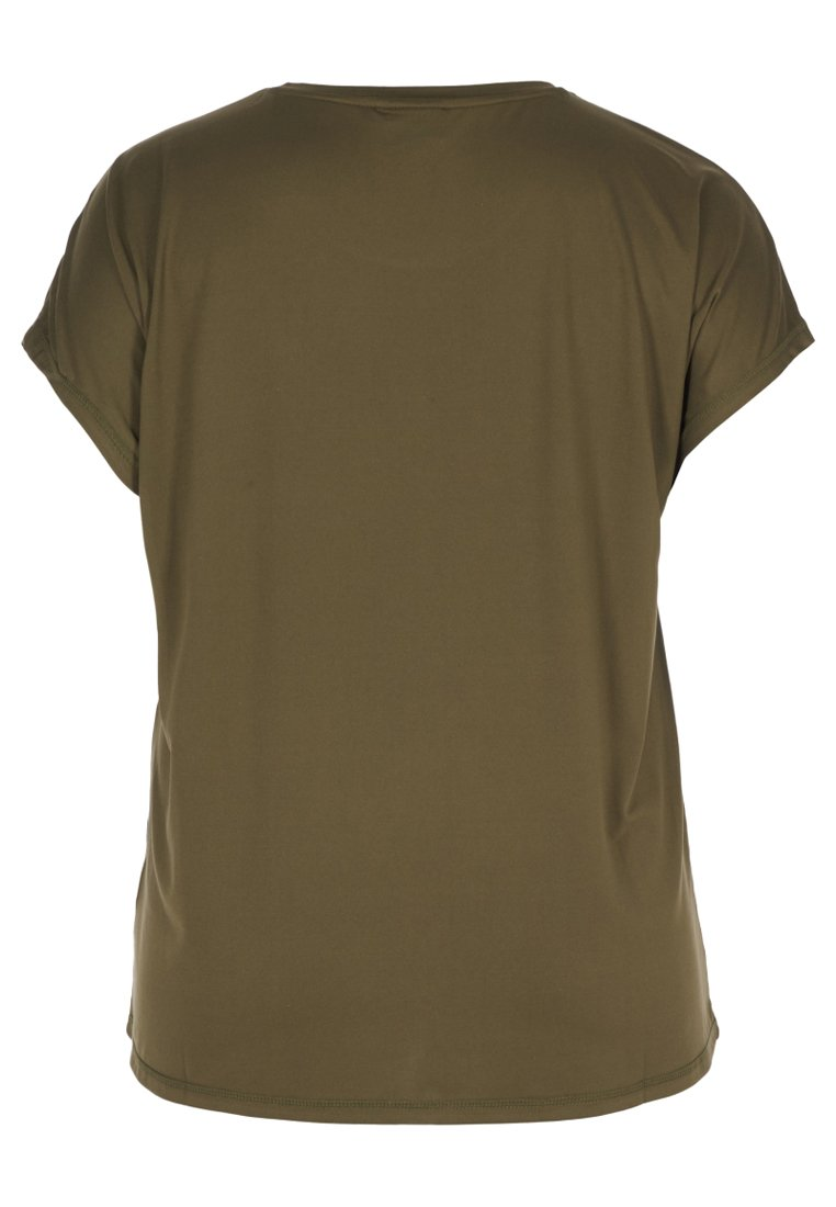 Green shirt Zizzi Active By T Con Stampa 8n0wvNOm