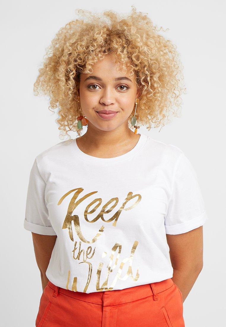 Zizzi - XFENDER - Print T-shirt - snow white