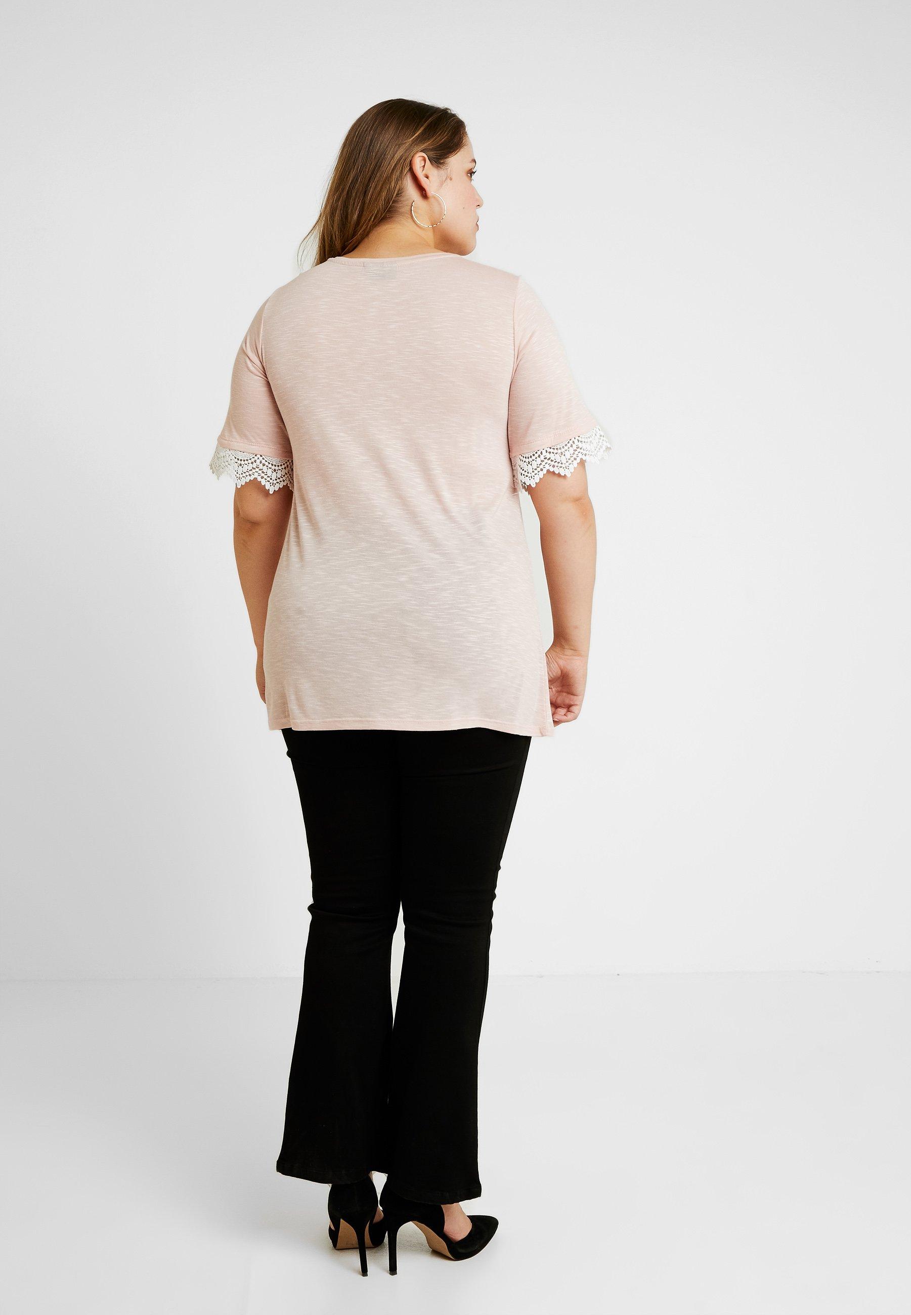 Smoke Zizzi XameliaT Rose shirt Imprimé white 3j45ARL