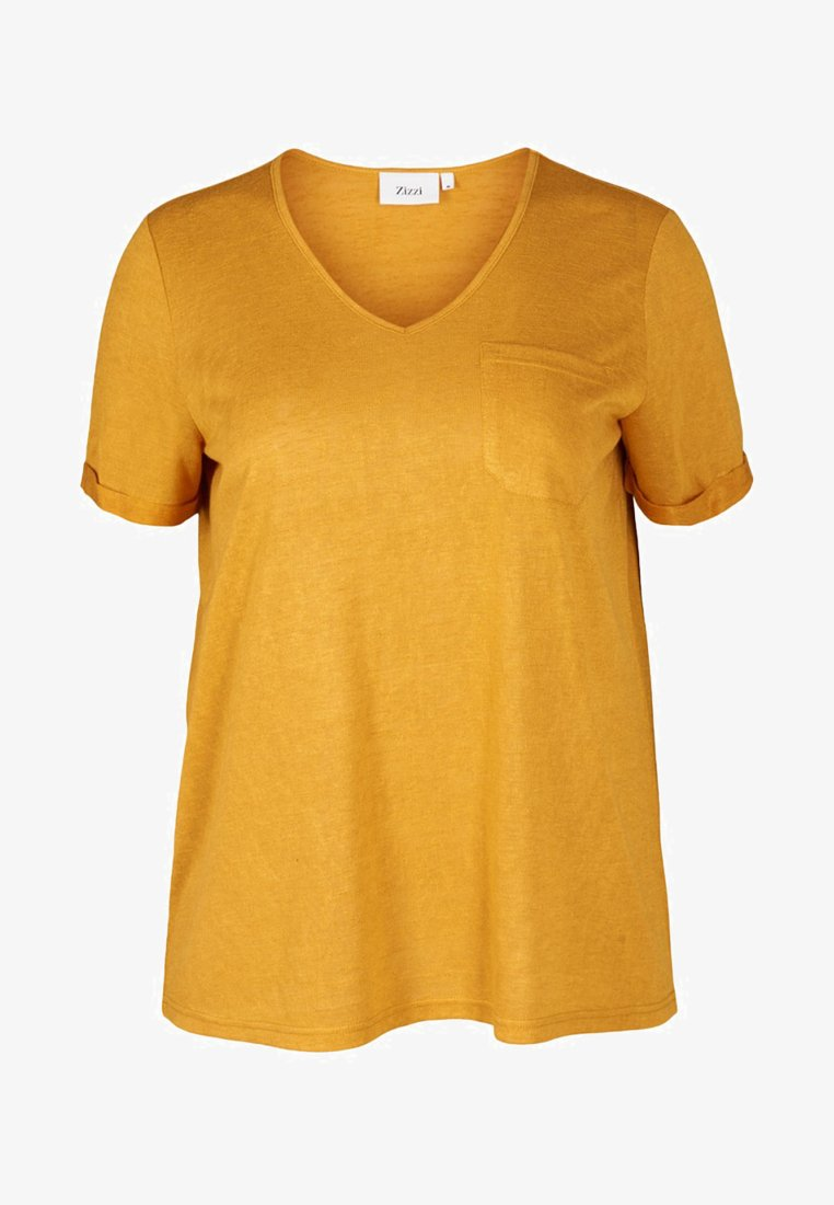 Zizzi - T-Shirt print - Yellow