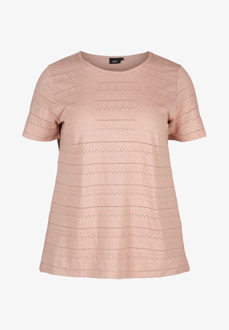 Zizzi - Print T-shirt - rose