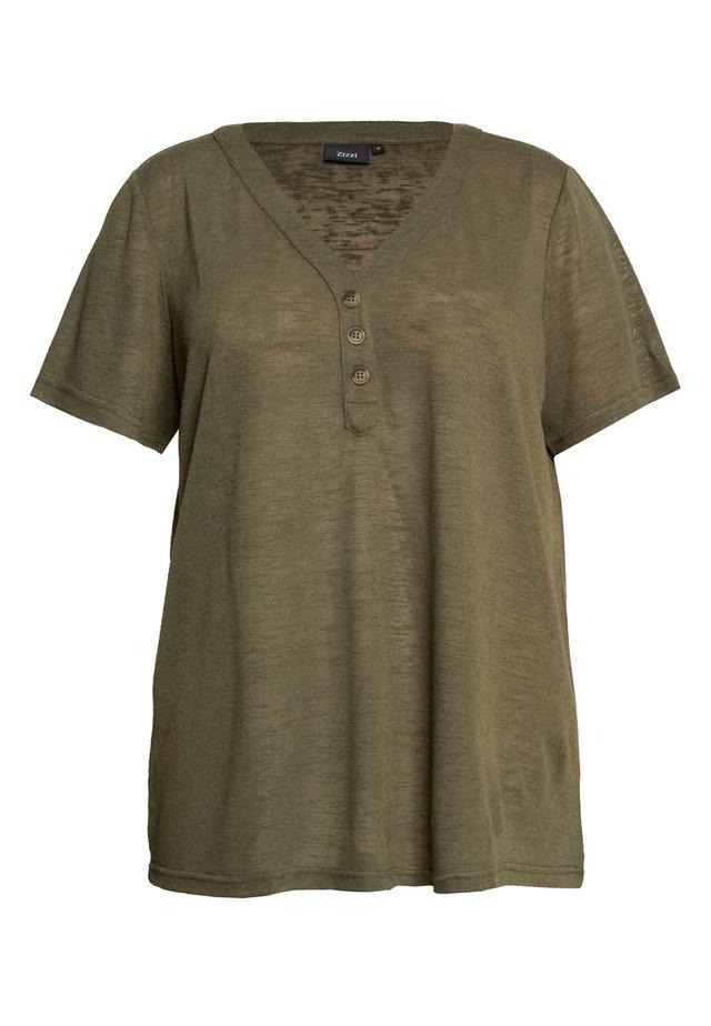 MAMY - Jednoduché triko - ivy green