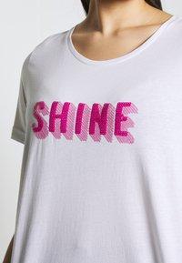 Zizzi - ESHINE - T-shirts print - white - 4