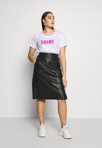 Zizzi - ESHINE - T-shirts print - white - 1