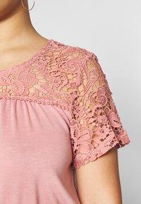 Zizzi - VNORA - T-shirt imprimé - old rose - 5