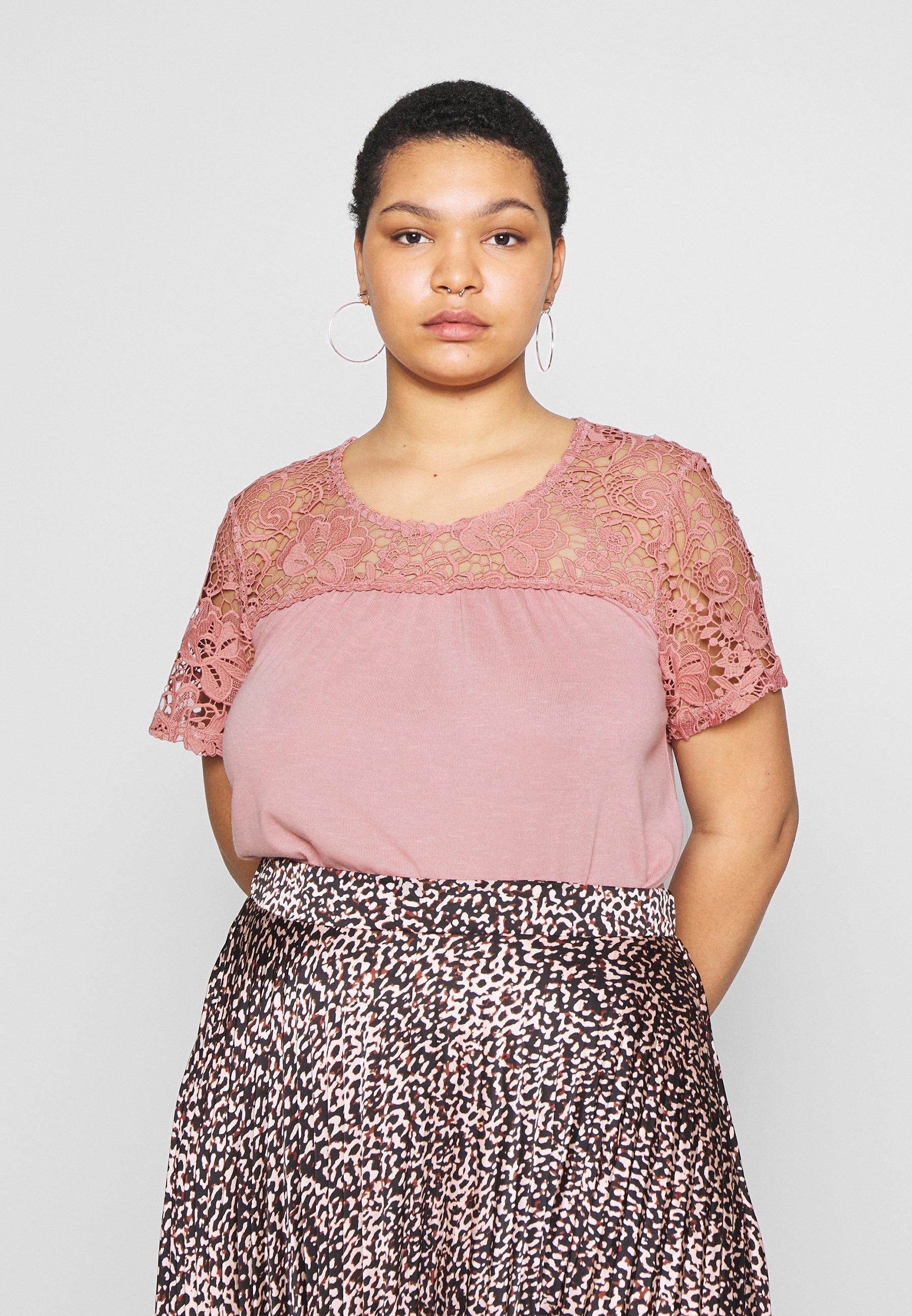 Zizzi VNORA - T-shirts med print - old rose