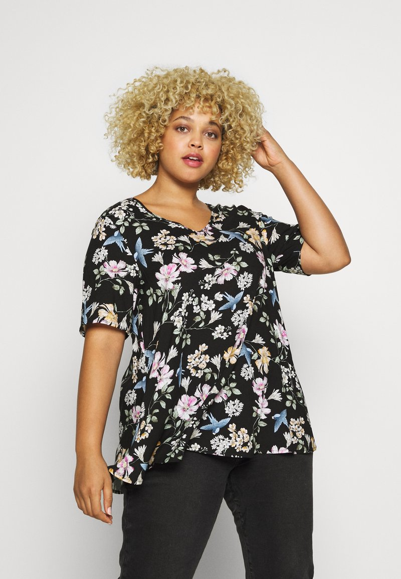 Zizzi - BLOUSE - Bluser - black bouguet