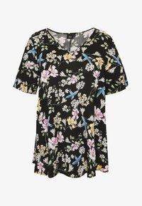 Zizzi - BLOUSE - Bluser - black bouguet - 4