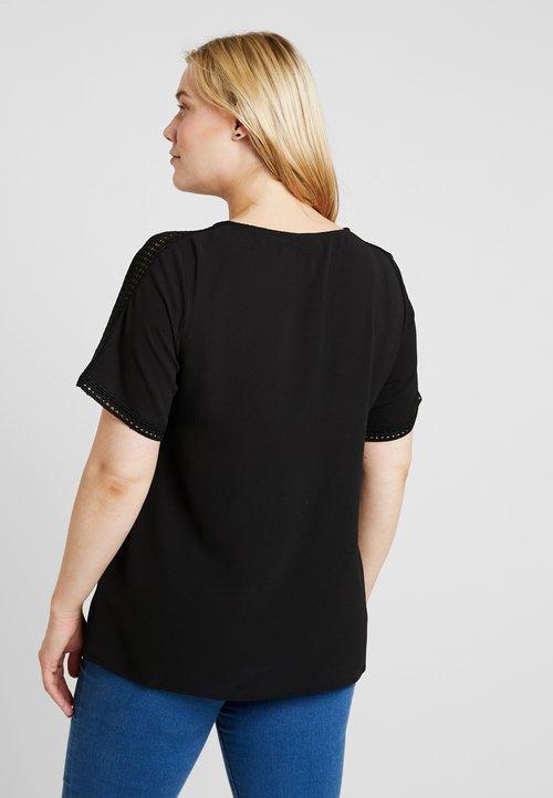dobrze rozwinięty Zizzi BLOUSE - Bluzka - black Koszulki i Topy DAQK-RQ7