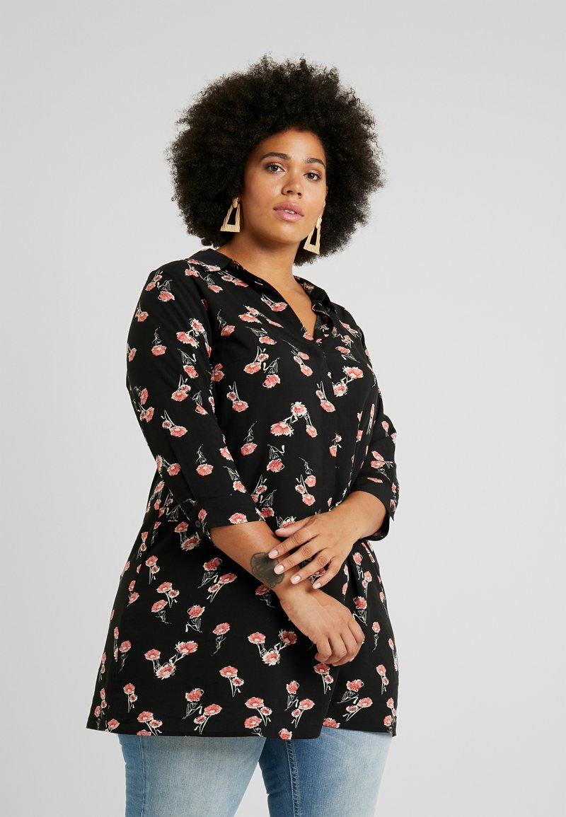 Zizzi - EXCLUSIVE EFLORAL 3/4 - Koszula - black