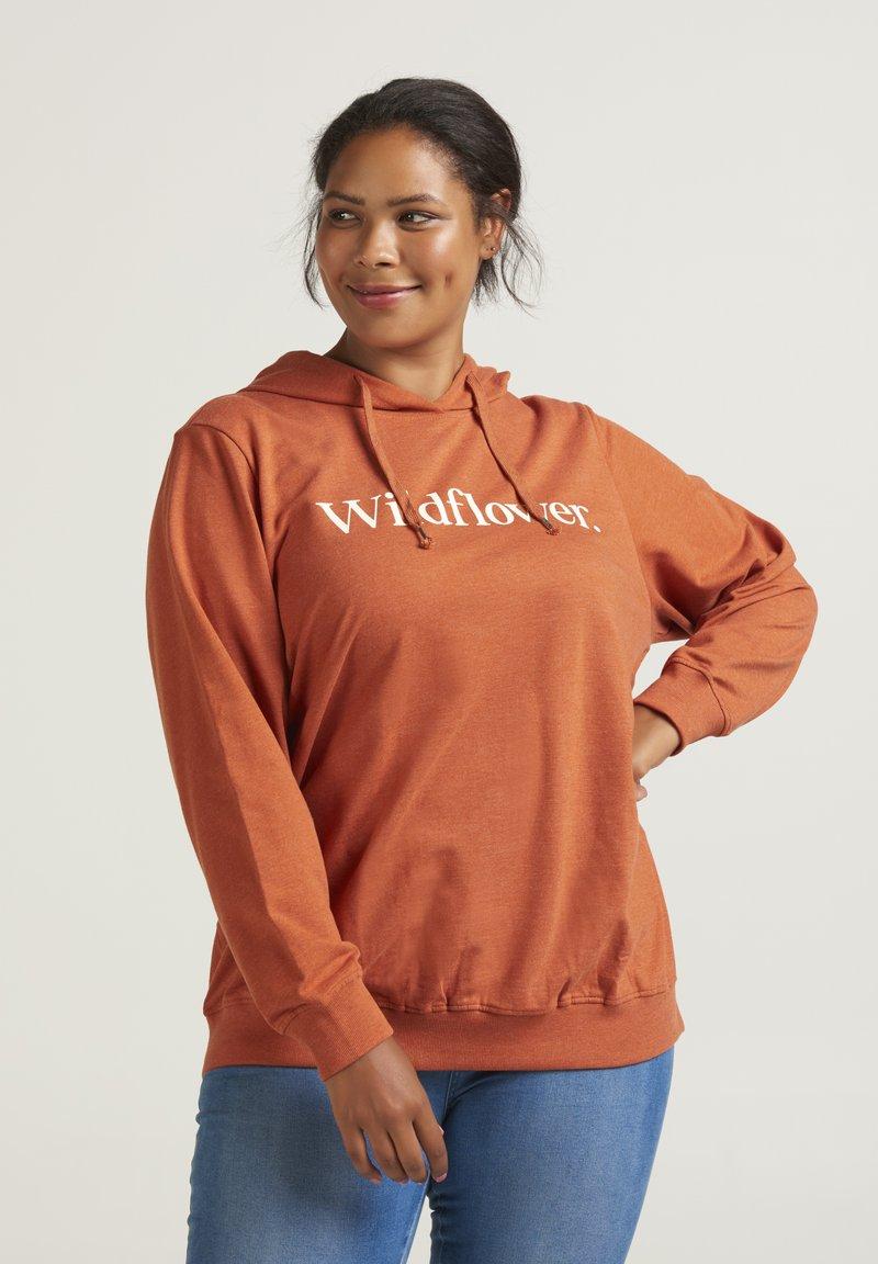 Zizzi - Sweatshirt - dark orange