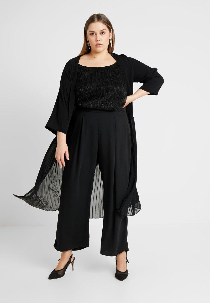 Zizzi - MPAULINE 3/4 KIMONO - Summer jacket - black