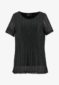 Zizzi - EANNA - Camiseta estampada - black/silver - 4