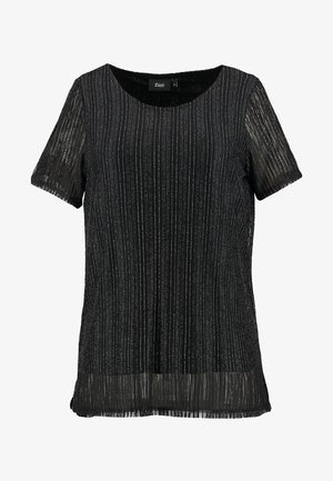 EANNA - T-shirt con stampa - black/silver