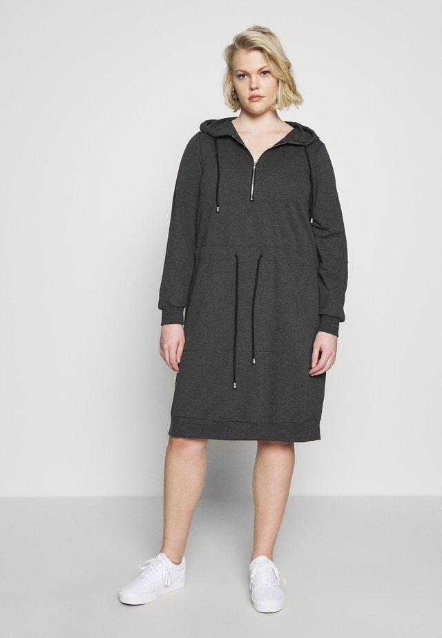 NELLIE KNEE DRESS - Denní šaty - dark grey melange