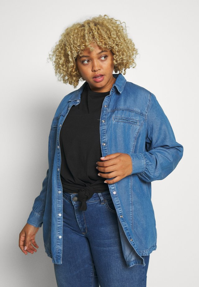 JANNA - Button-down blouse - blue denim
