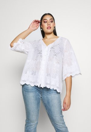 MNELLER BLOUSE - Bluser - whisper white