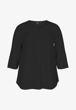 MIT 3/4-ÄRMELN - Blouse - black