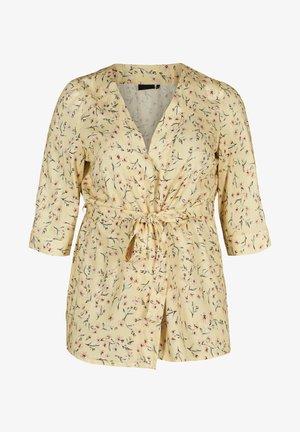 KIMONO - Summer jacket - yellow