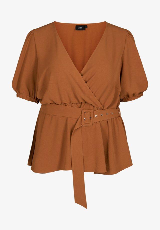 Bluse - brown