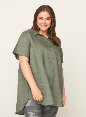 Button-down blouse - army