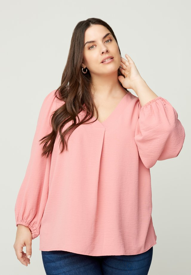 WITH PUFF SLEEVES - Pusero - pink