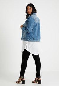 Zizzi - MACCALIA JACKET - Denim jacket - light blue denim - 2