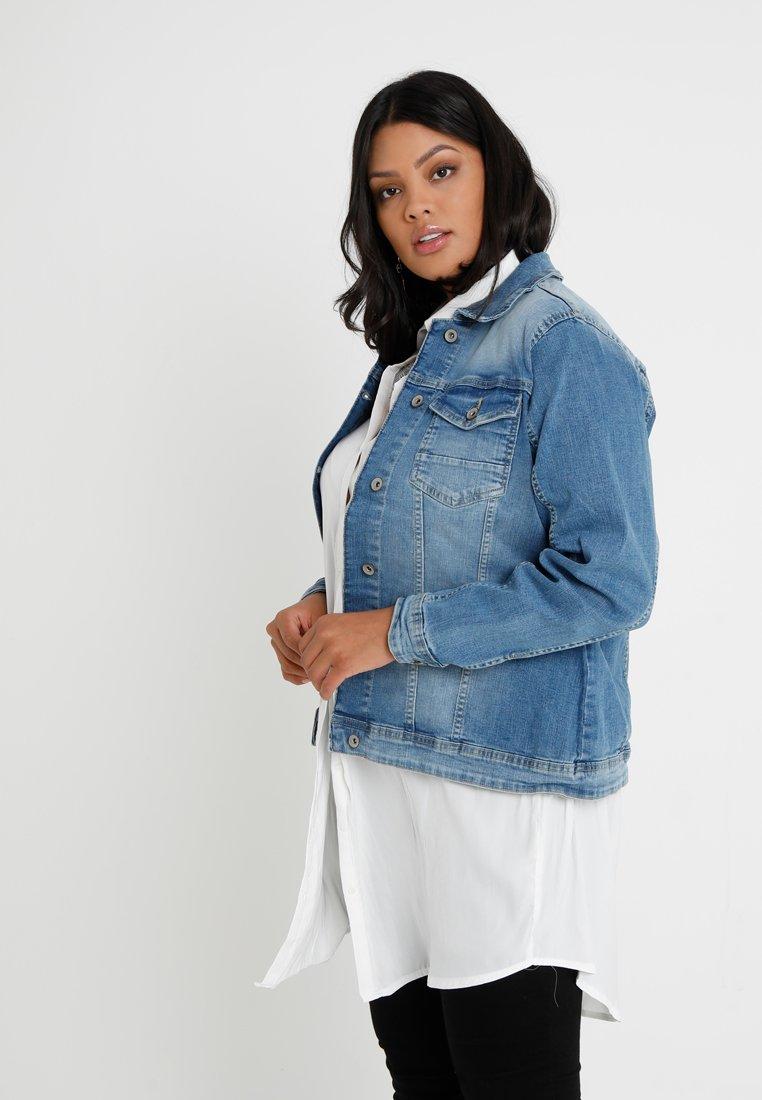 Zizzi - MACCALIA JACKET - Denim jacket - light blue denim