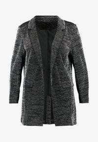 Zizzi - JMINIE CROPPED SLEEVE - Blazer - black /silver - 5