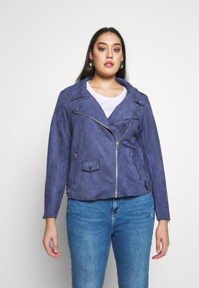 ESUS JACKET - Faux leather jacket - blue