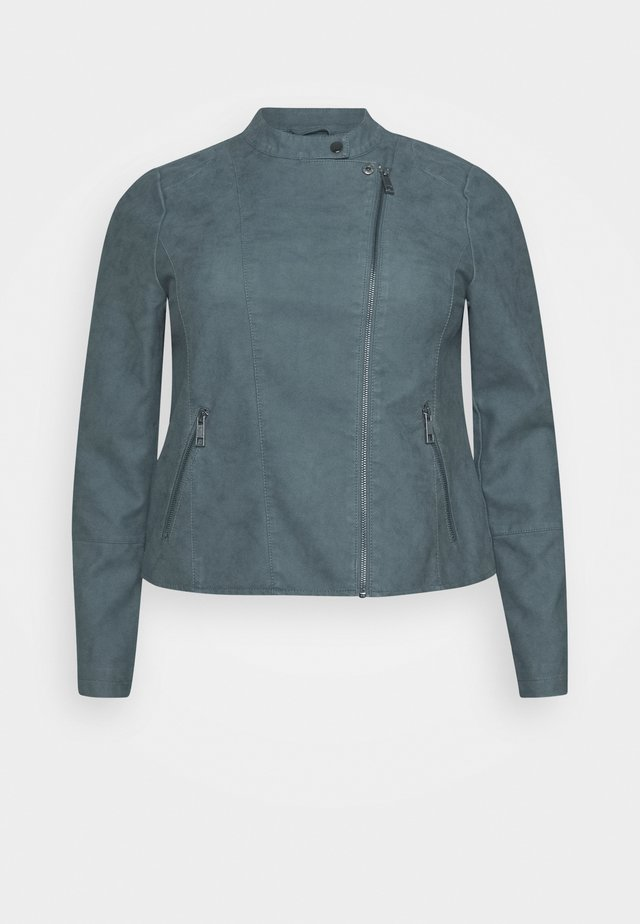 MISABELLA JACKET - Faux leather jacket - grey