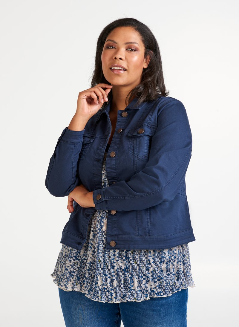 Zizzi - Denim jacket - dark blue