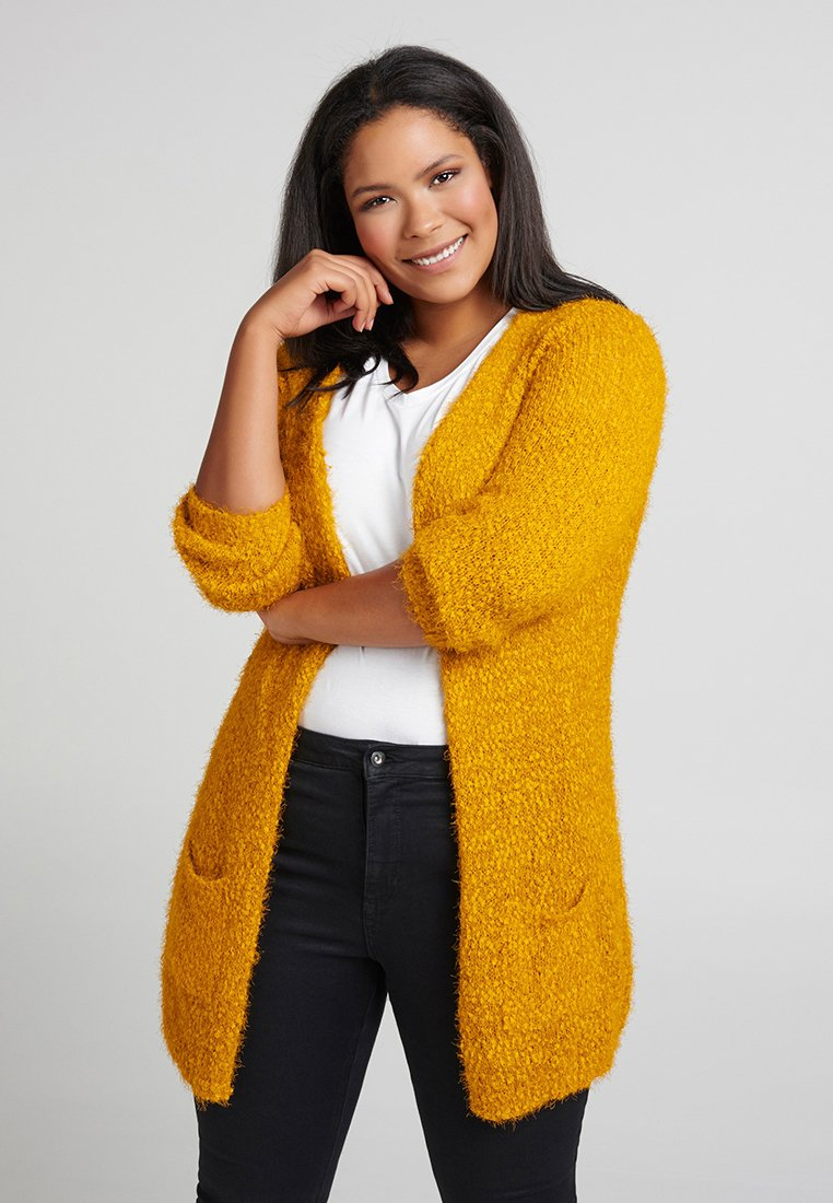 Zizzi - Cardigan - yellow