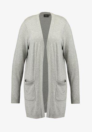LONG CARDIGAN - Chaqueta de punto - light grey melange