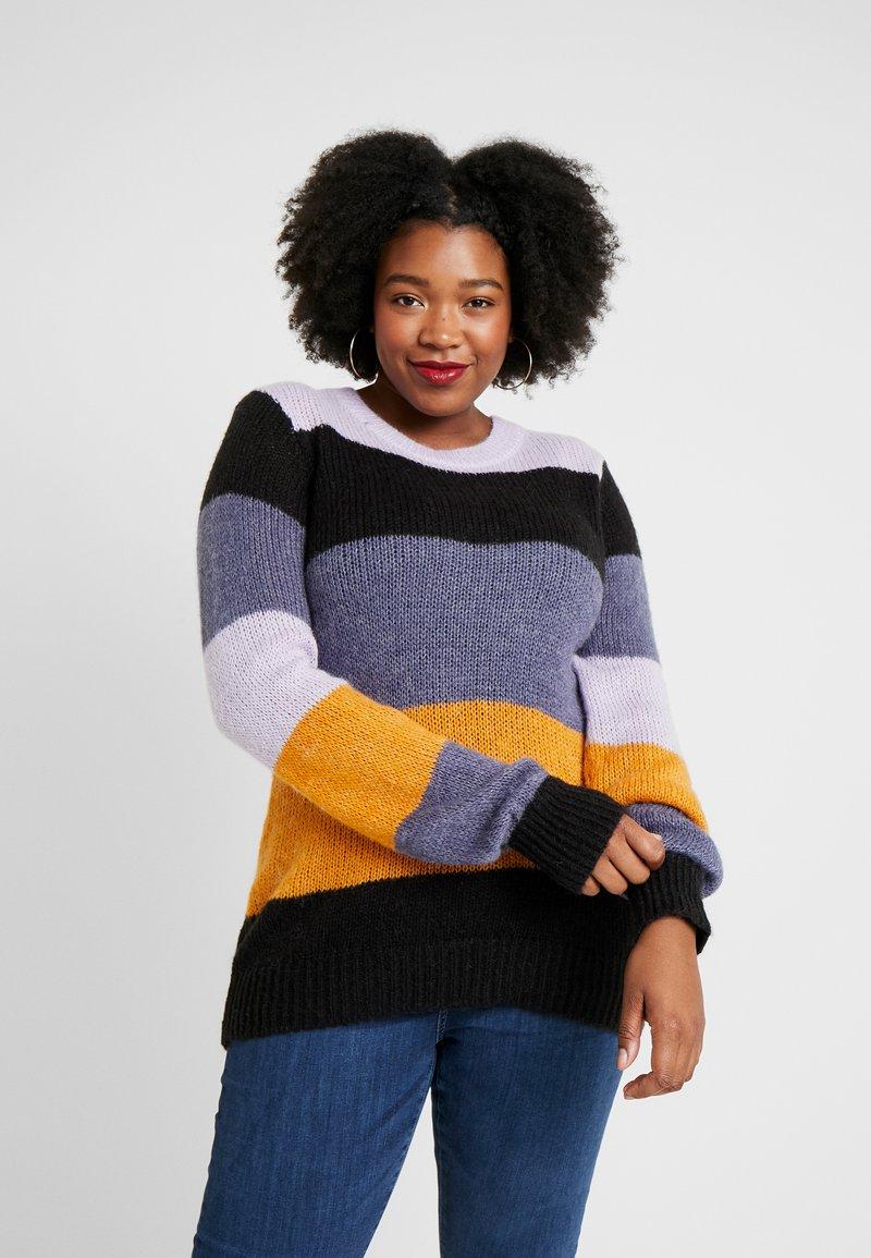 Zizzi - Stickad tröja - lavender comb