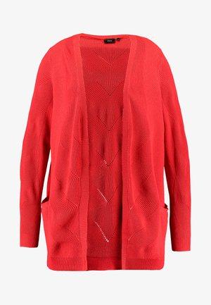 MALICIA CARDIGAN - Kardigan - flame scarlet
