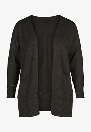 MAVA CARDIGAN - Gilet - dark grey