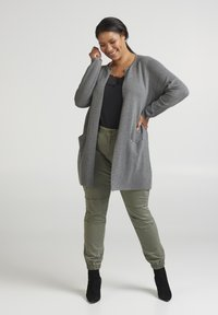 Zizzi - Cardigan - dark grey - 1