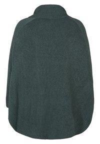 Zizzi - PONCHO - Stickad tröja - green - 5