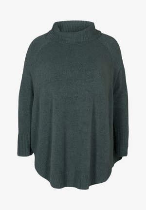 PONCHO - Pullover - green