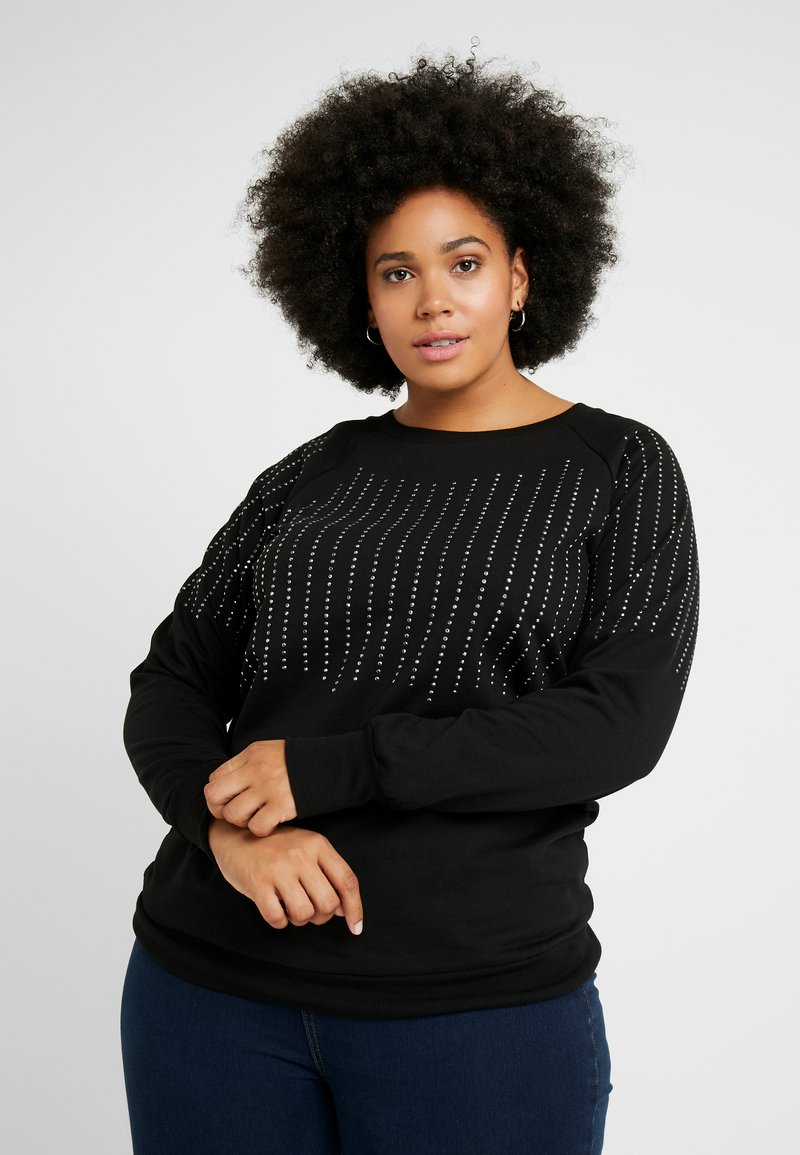 Zizzi - STUDDIE - Sweatshirt - black